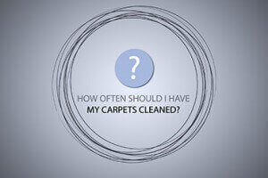 How often should carpets be professionally cleaned?