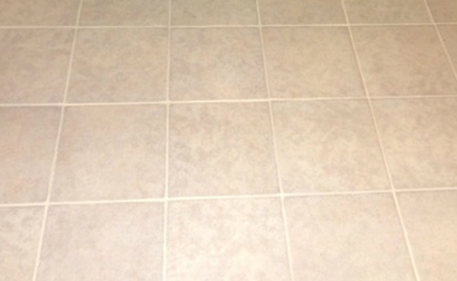 After Cleaning and Color Sealing Tile and Grout Entrance