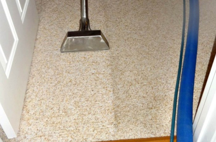 Cleaning High Traffic Carpet Area