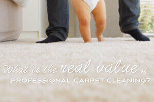 What is the real value of professional carpet cleaning?